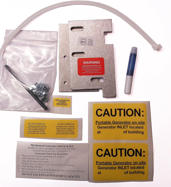 Eat Ch200xa Eaton Or Cutler Hammer Generator Interlock Kit Vertical 30 Amp 3 4 In Doublepole Type Ch Circuit Breakerch230 The Home Throw Main 150 200 Panel