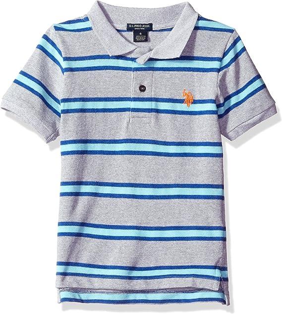 Polo Assn U.S Big Boys Logo 3 Sleeve Pique Polo-cobalt