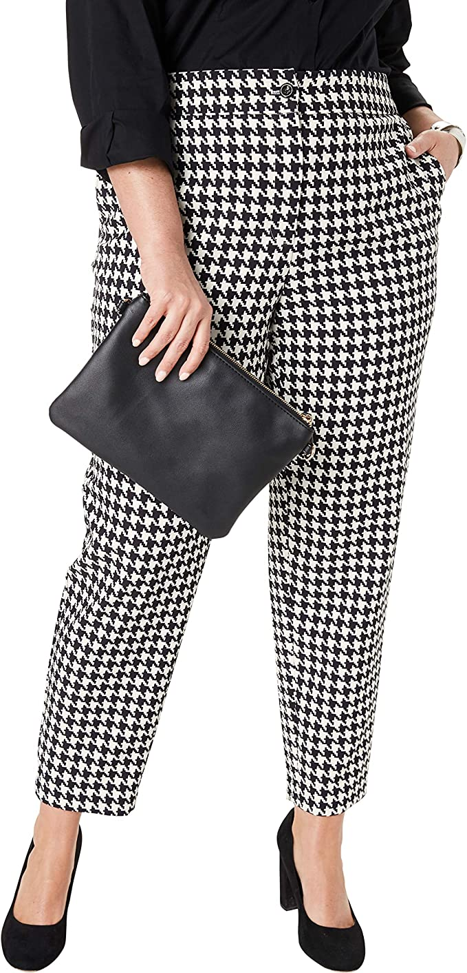 1950s Pants & Jeans- High Waist, Wide Leg, Capri, Pedal Pushers Jessica London Womens Plus Size Bi-Stretch Ankle Pant $36.96 AT vintagedancer.com