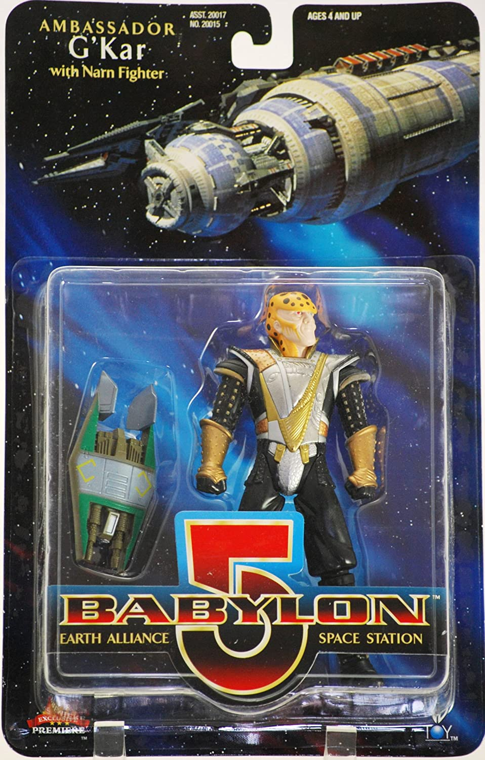 New Collectible w// Narn Fighter Out of Production Rare 1997 WB Toys // Exclusive Premiere Dist Babylon 5 Earth Alliance Space Station Ambassador GKar Action Figure