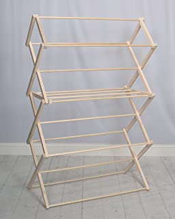 woodworks clothes drying rack made in the usa heavy duty 100 hardwood