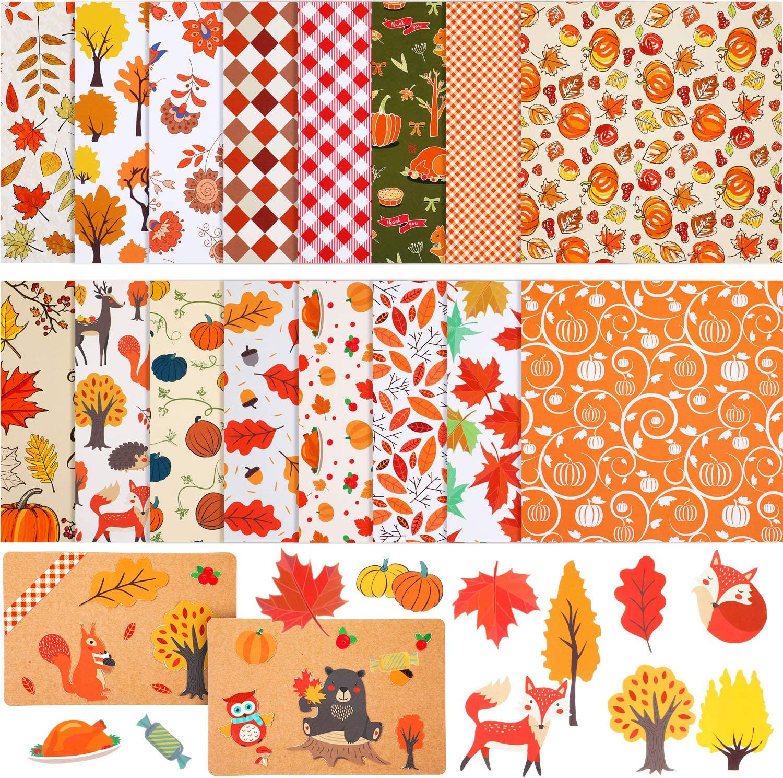 Fall Scrapbook gold confetti pumpkin patterns Warm Autumn Digital Papers fall background Hello Autumn autumn digital paper pack