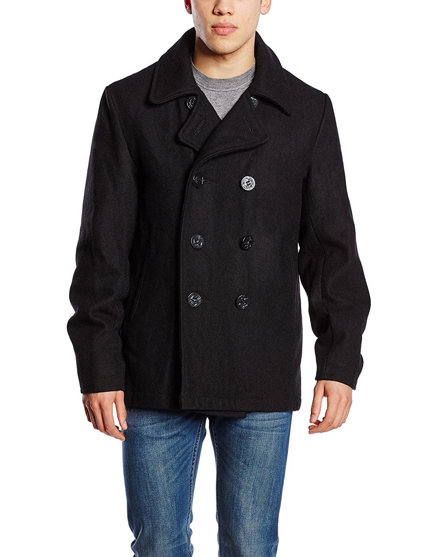 BRANDIT Pea Coat Marine Jacke Herren Navy Mantel Winterjacke - Neu - Frühling Sommer