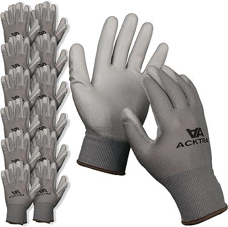 2 4 12 Pack.Free P/&P 8 Handlers Gardening,Work,Safety Grip Gloves.1