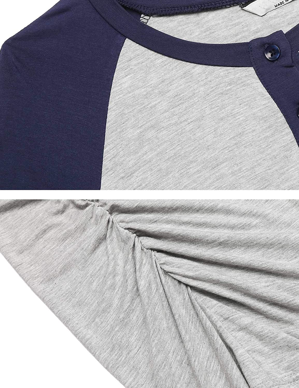 MAXMODA Nursing Shirt Womens Maternity Shirt Casual Maternity Blouse S-XXL