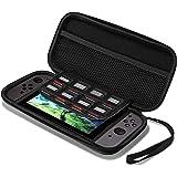 Nintendo Switch Hülle, Supremery Case Reiseetui Tasche (Slim Version) mit Netztasche und Reißverschluss - Wasserabweisend in Schwarz