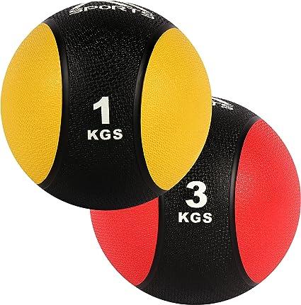 MSPORTS Balón Medicinal Set 1 + 3 kg – Calidad de Estudio ...