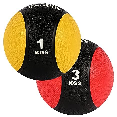 MSPORTS Balón Medicinal Set 1 + 3 kg - Calidad de Estudio ...