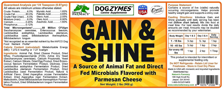 Amazon.com: dogzymes ganancia y Shine, 8 onzas: Mascotas