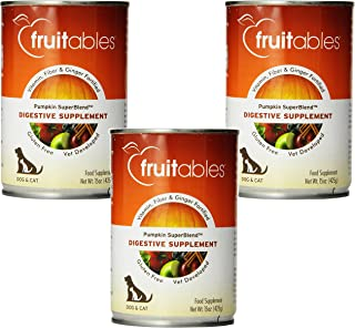product image for (3 Pack) Fruitables Dog Digestive Supplement, Pumpkin, Fortified With Vitamins, Fiber and Ginger, 15 Ounce Cans