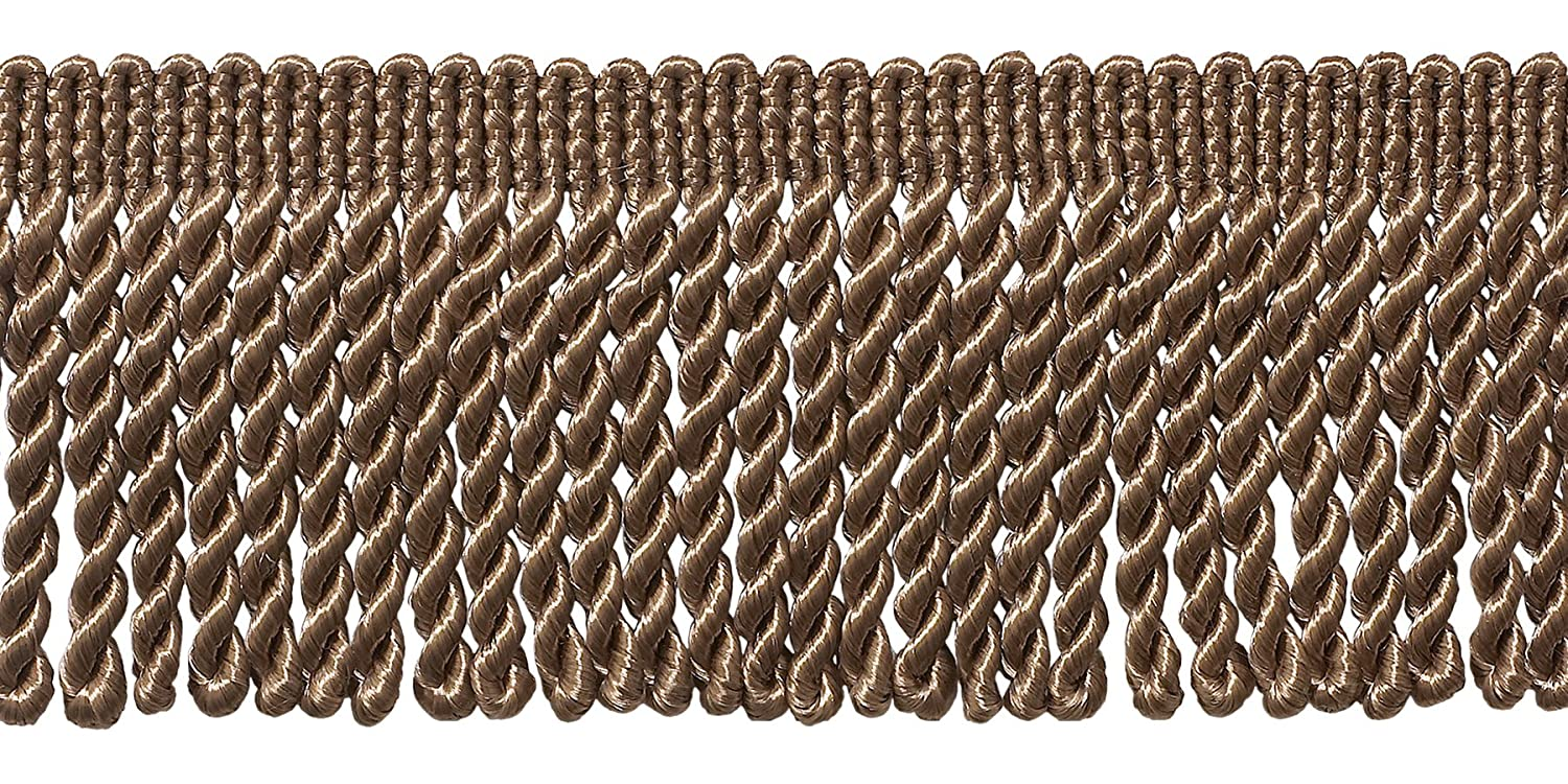 DecoPro 10 Yard Value Pack of Dark Sand 2.5 Inch Bullion Fringe Trim, Style# EF25 Color: Beige - A8 (30 Ft / 9 Meters) 4337029200