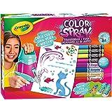 CRAYOLA Color Spray Pink Aerografo a Carica Manuale per Pennarelli, per Gioco e Regalo, 25-8732