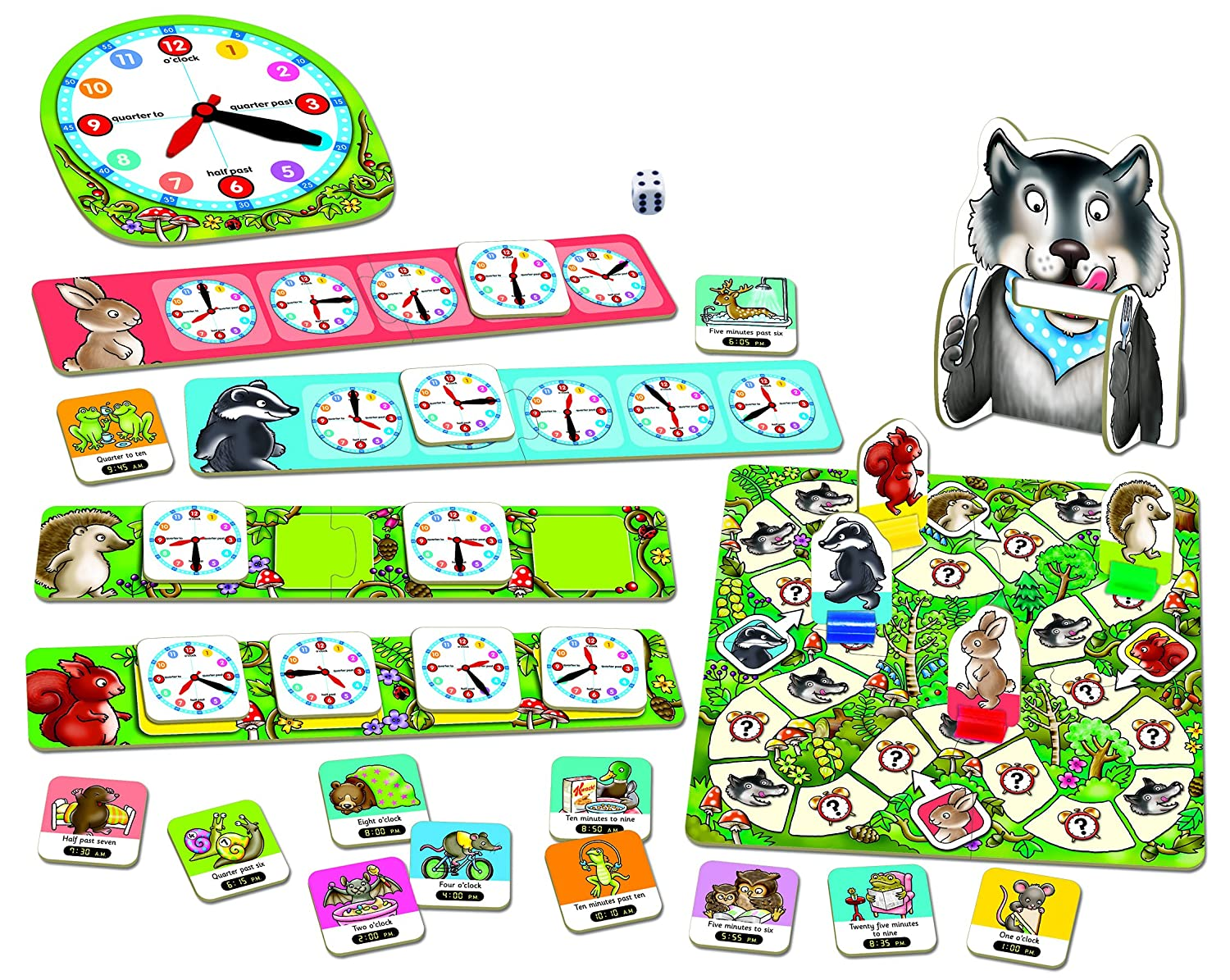 Amazon.com: Orchard Toys Game What Time is It Mr Wolf, 183 ...