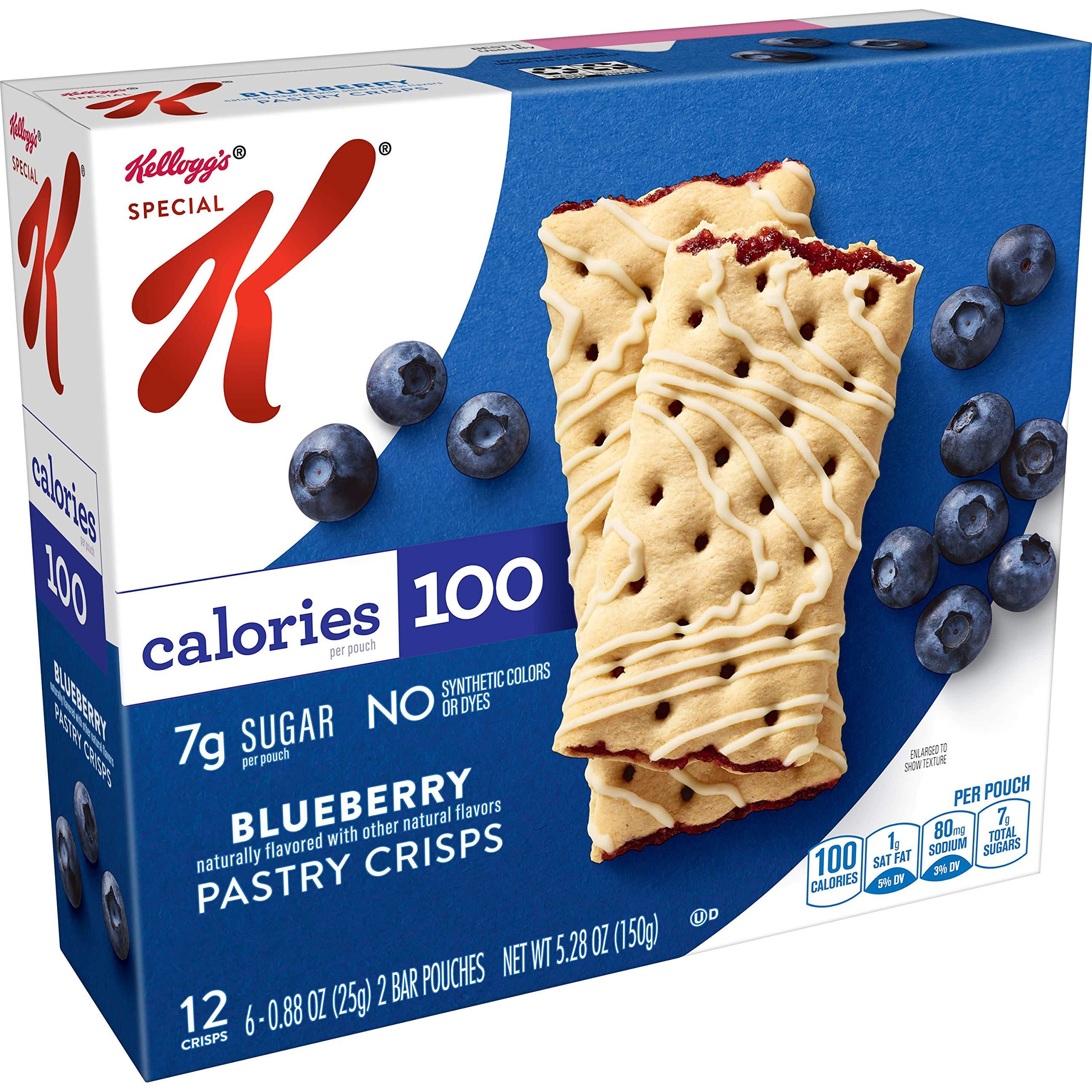 Special K Pastry Crisps, Blueberry, 5.28 oz, 12 Crisps, 2 per Pouch (6 Pouches)