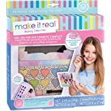 Make It Real - Girl-on-the-Go Cosmetic Compact. Girls Makeup Kit is a Perfect Starter Cosmetic Set for Kids and Tweens. Includes Cat Design Makeup Case, Compact Mirror, Eyeshadow, Blush & Lip Gloss