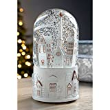 WeRChristmas Houses and Church Scene Musical Snow