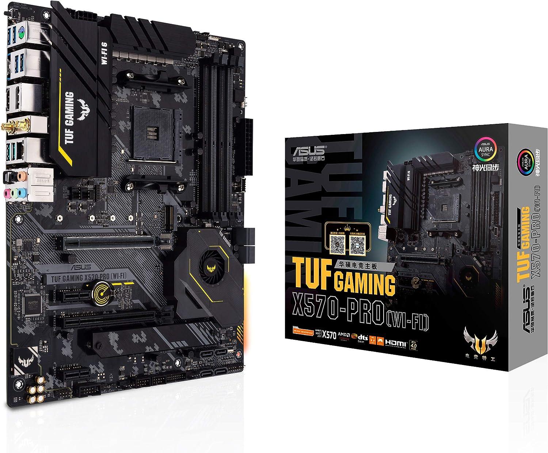 ASUS TUF Gaming X570-PRO (WiFi 6) AM4 Zen 3 Ryzen 5000 & 3rd Gen Ryzen ATX Motherboard (PCIe 4.0, 2.5Gb LAN, BIOS Flashback, HDMI 2.1, USB 3.2 Gen 2