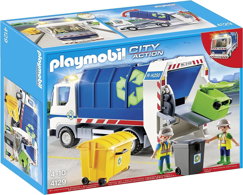 PLAYMOBIL - Camión de Reciclaje con Luces (4129)