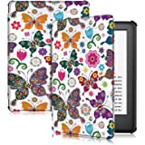 Capa para Kindle 10a geração (aparelho com iluminação embutida) - rígida - sistema de hibernação - Borboletas Coloridas