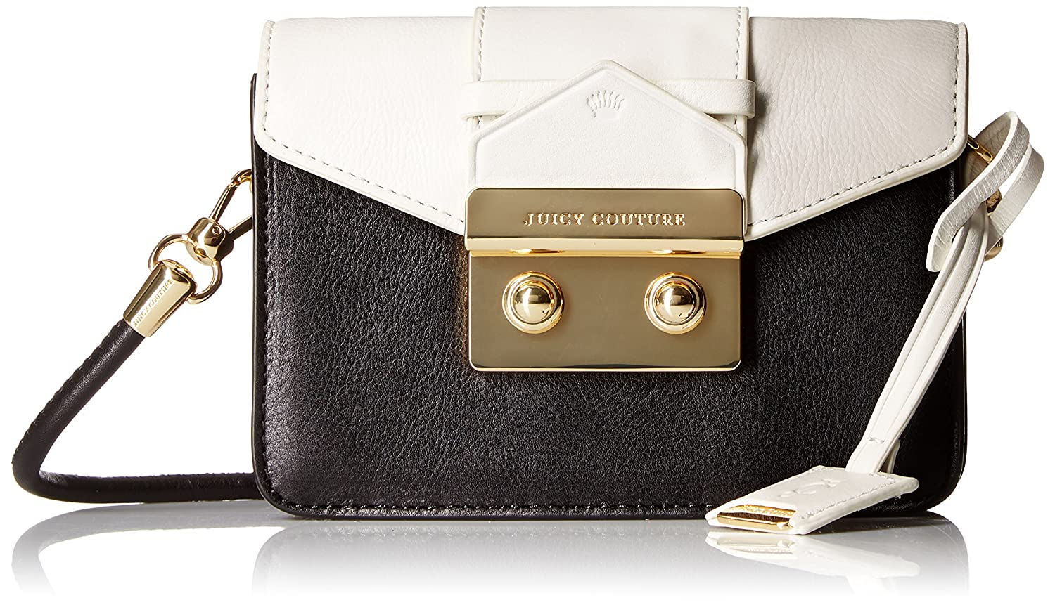 28307bd0c0b1 Amazon.com  Juicy Couture Black Label Mini Crossbody Bag with Envelop Flap  with Gold Latch with A Top Handle Option