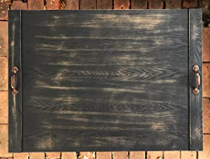 Rustic Wooden Farmhouse Home Decor Noodle Board Stove Top Cover Large Ottoman Tray Housewarming, Wedding Gift