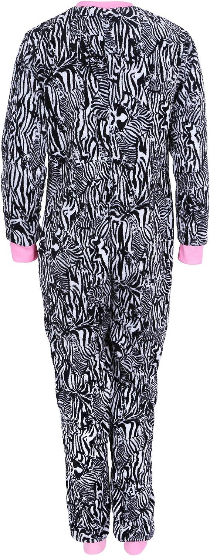 Love to Lounge Zebra Stripes Design Onesie for Ladies All in One Piece Pyjama
