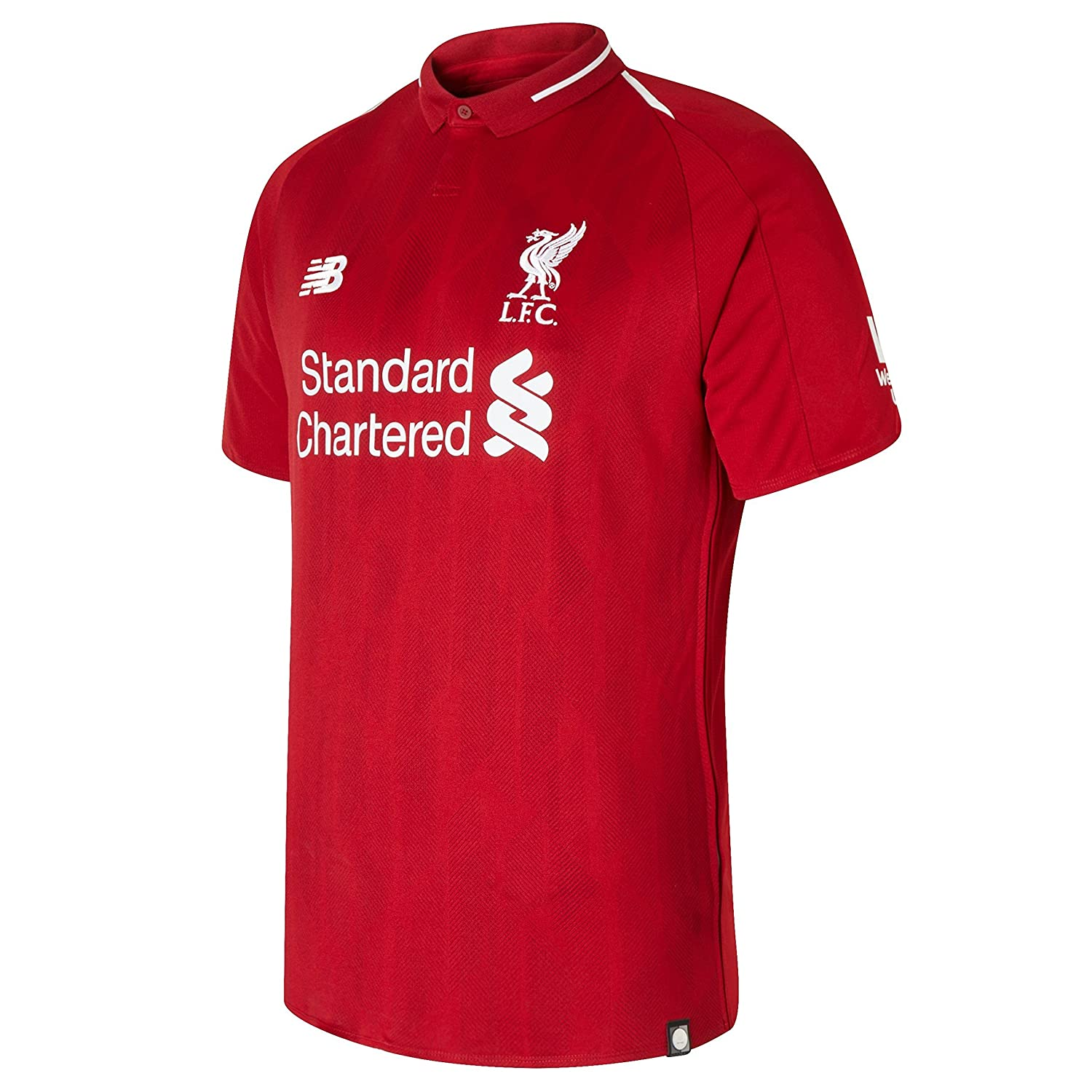 9e332ade91c Amazon.com  New Balance Men's Liverpool FC 2018-19 Home Soccer Jersey  (Pepper Red) (Small)  Clothing