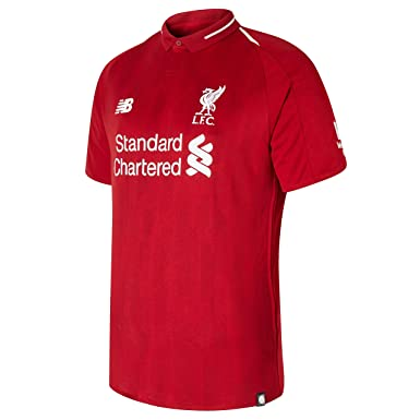6db97d1edae Amazon.com  New Balance Men s Liverpool FC 2018-19 Home Soccer Jersey (Pepper  Red) (Large)  Clothing