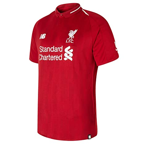 f147e4147 Amazon.com  New Balance Men s Liverpool FC 2018-19 Home Soccer Jersey  (Pepper Red) (Large)  Clothing