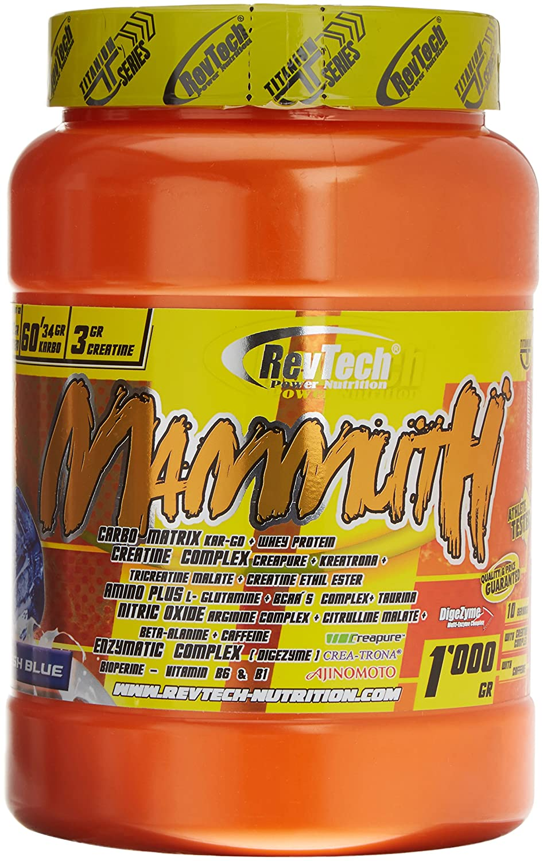Revtech Mammuth Carbohidratos y Proteína, Sabor Fresh Blue - 998 gr: Amazon.es: Salud y cuidado personal