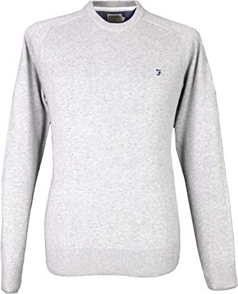 Farah New Men/'s Regular Fit Cotton Crew Neck Jumper Sweater Tops,Colours