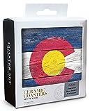 Lantern Press Rustic Colorado State Flag
