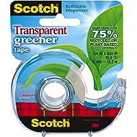 Scotch Transparent Greener Tape, 3/4 X 600 Inch