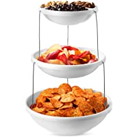 Collapsible Bowl, 3 Tier - The Decorative Plastic Bowls Twist Down and Fold Inside for Minimal Storage Space. Perfect…