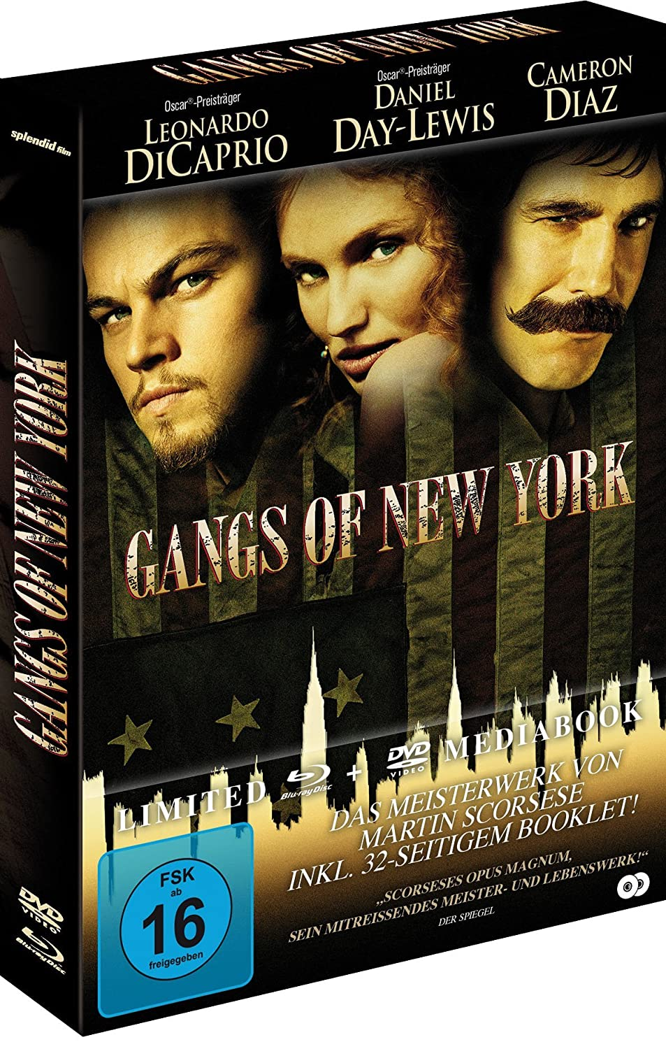 Gangs of New York + DVD - Mediabook Alemania Blu-ray: Amazon.es: Jim Broadbent, Liam Neeson, John C. Reilly, Cameron Diaz, Brendan Gleeson, ...