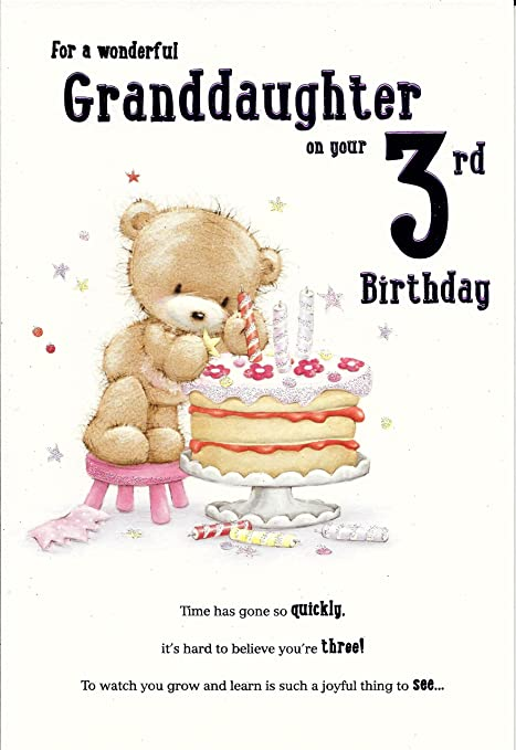 For A Special Granddaughter On Your 3rd Birthday Card