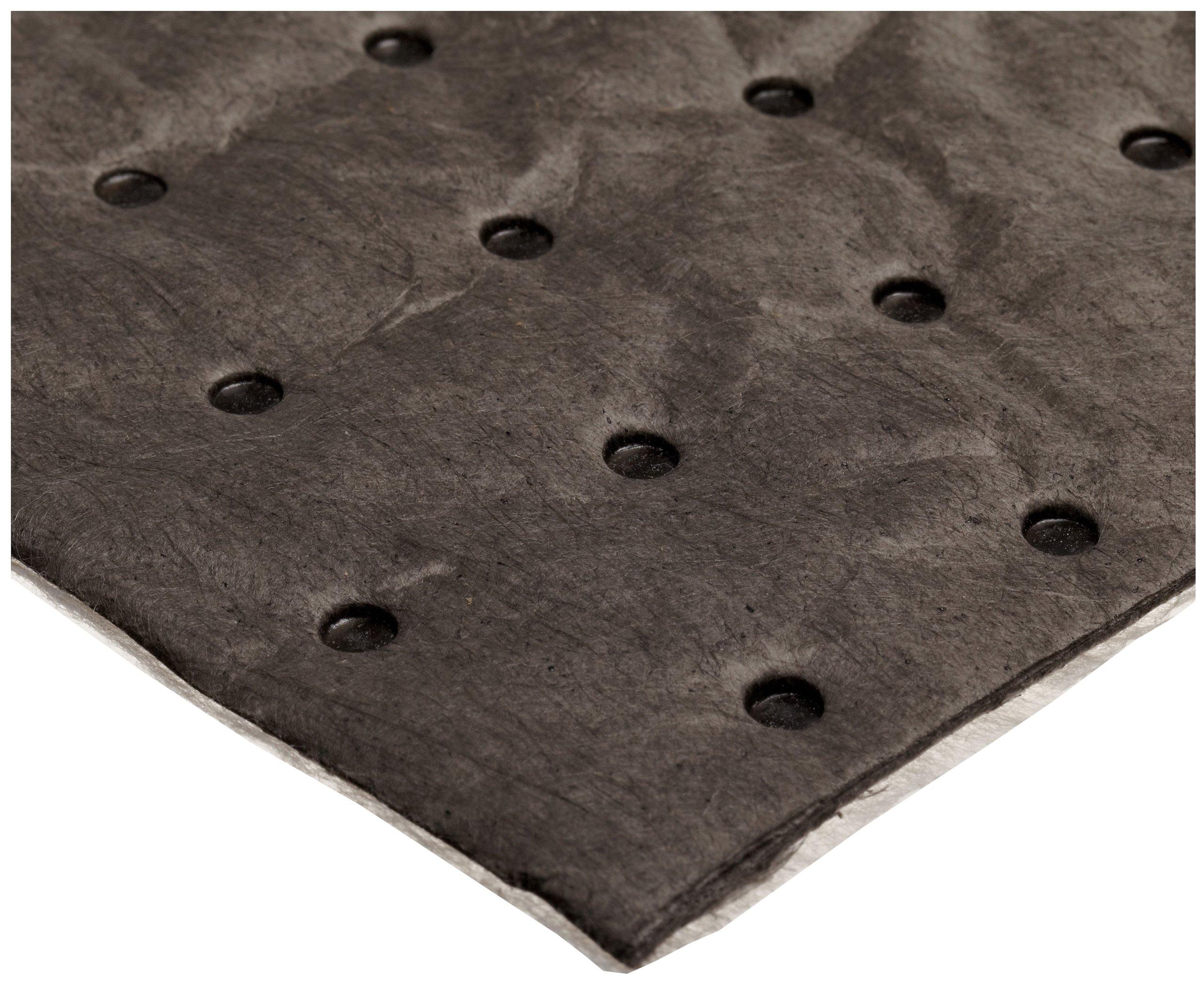 Oil-Dri L90907 15'' W x 19'' L Universal Heavy Weight Bonded Perforated Pads (50 Mats/Box)