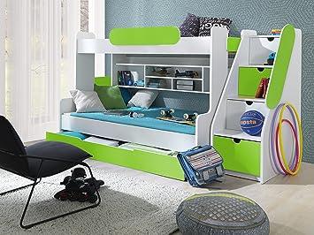 Etagenbett Bussy Gebraucht : Furnistad etagenbett luna kinder stockbett weiß grün : amazon