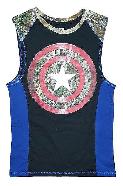 0abec9e7e Marvel Comics Captain America Realtree Camo Sleeveless Muscle Shirt - Large