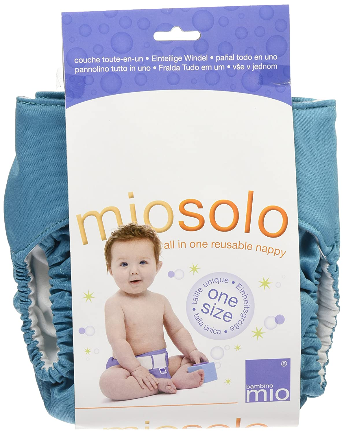 Amazon.com : Bambino Mio Miosolo All-In-One Cloth Diaper, Pacific Teal : Baby Diaper Covers : Baby