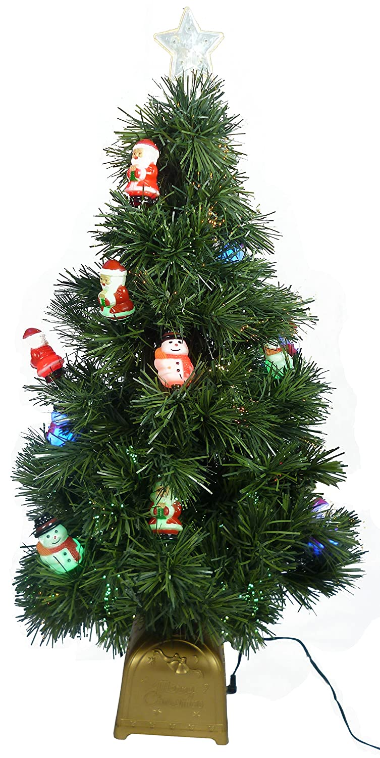 Christmas Concepts® 32 Inch Black Fibre Optic Layered Christmas Tree with Silver Tips