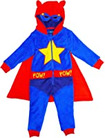 Boys Superhero Fleece All in One by Onezee with Mask Hood & Cape sizes from 2 to 6 Years