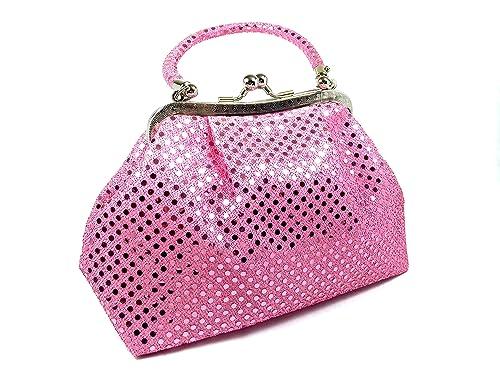 Amazon.com: Bolso de mano FabCloud Eve con lunares rosas ...