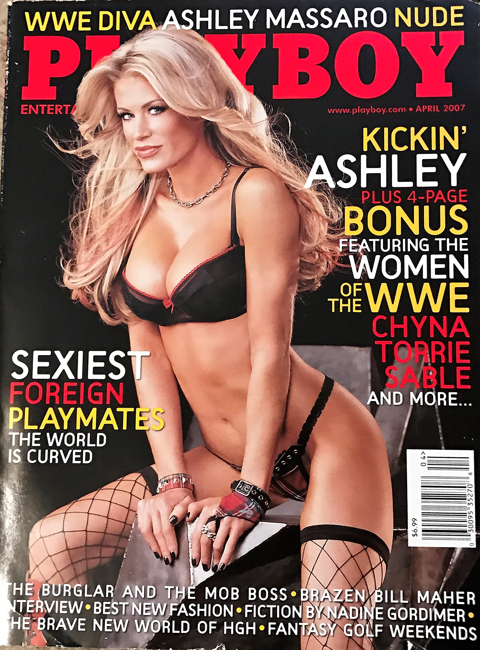 Playboy Adult Magazine, April 2007 (WWE Diva Ashley Massaro on the Cover)  Single Issue Magazine – 2007