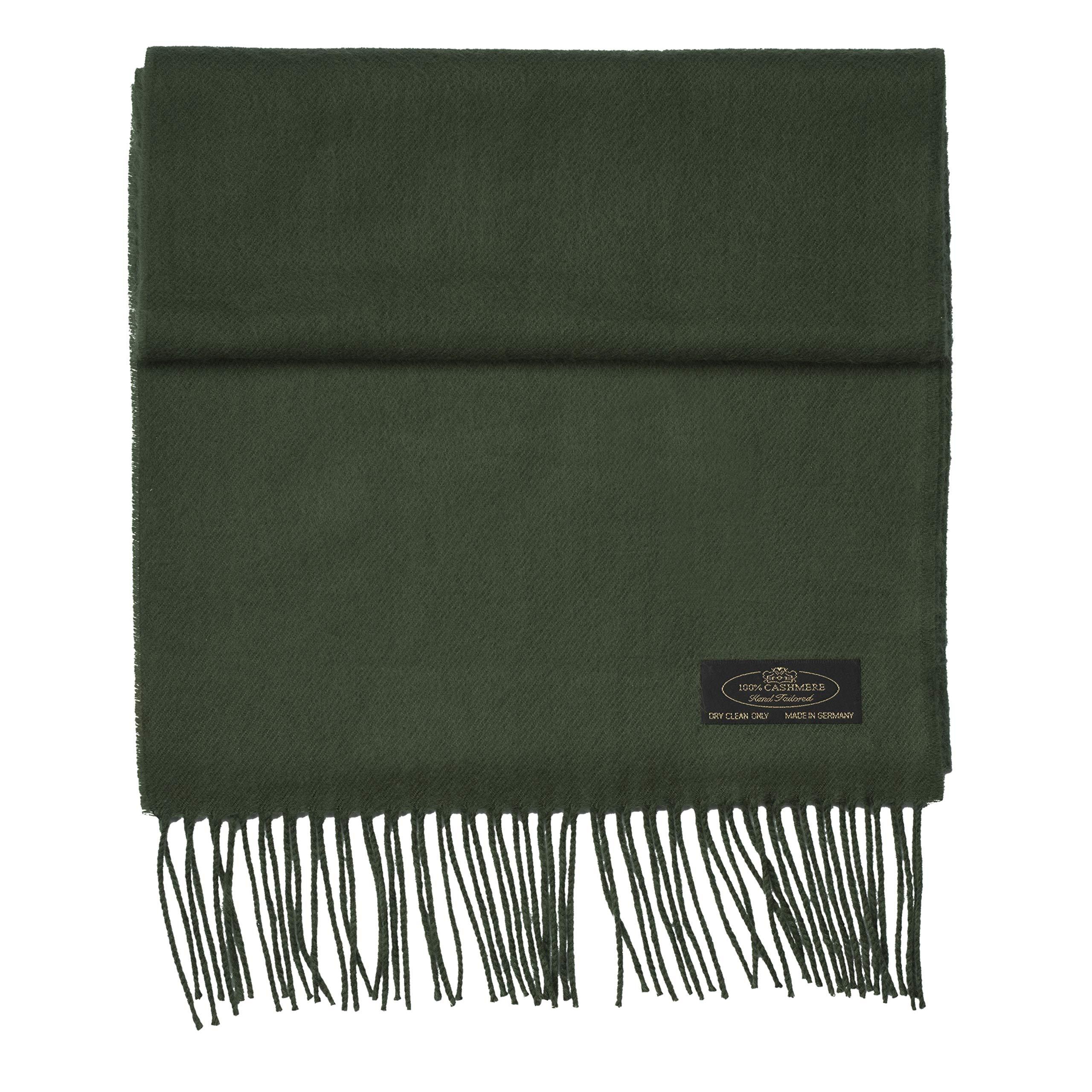 100% Cashmere Scarf Super Soft For Men And Women Warm Cozy Scarves Multiple Colors FHC Enterprize (Forest Green)