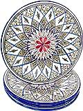 Le Souk Ceramique TK43 Stoneware Dinner Plates, Set of 4, Tabarka