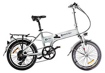 IC Electric Mini Bicicleta Plegable, Unisex Adulto, Blanco, Única
