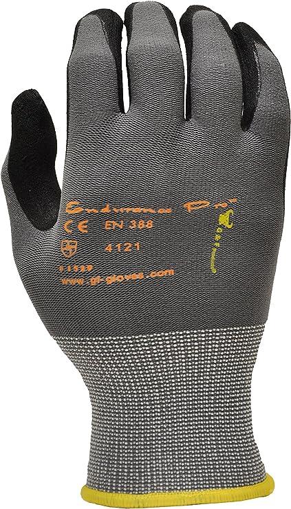 """COMASEC flexigum Poids Lourd Noir Caoutchouc industriel Gants 40 cm//16/"""" Taille 9 L"""