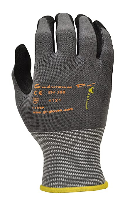 GF Gloves 1529XL-12 Endurance Pro Seamless Knit Nylon Gloves with Micro Form Nitrile Grip, X-Large (Pack of 12)