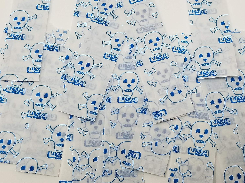 Medium Vellum Glassine Stamp Wax Paper Envelope Bags 25mm//27mm 600pcs//bx USA Skull